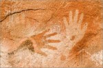 Cave paintings in Patagonia, Argentina