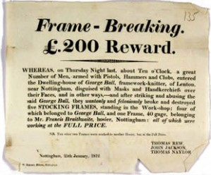 """A """"Wanted"""" notice, Nottinghamshire"""