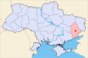 Ukraine/ Donetsk map