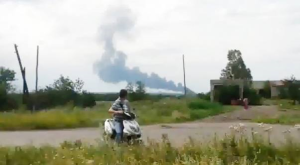 The crash, seen from a nearby village
