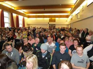 Standing room only at one of the meetings in Castlemilk, Glasgow, to discuss the referendum