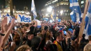 George Square before the referendum