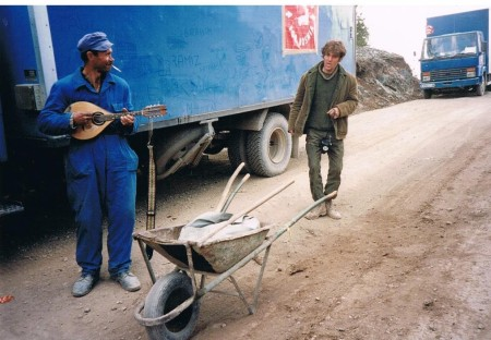 This Bosnian Serb road mender, belying the false caricature that all Serbs support-ed Karadzic, worked unpaid on the roads over Mount Milankovic, keeping the aid route open