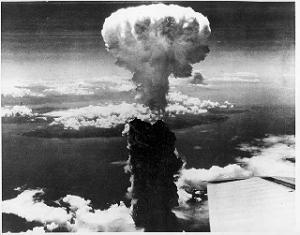Atom bomb explosion, Nagasaki, Japan, 9 August 1945
