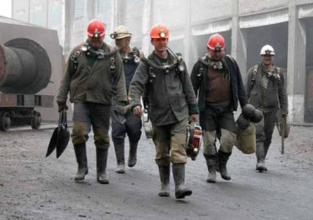 Miners at Kriviy Rih. Photo from Observer Ukraine